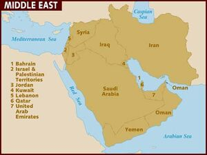 Middle East map 001