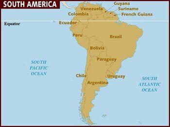 South America map 001