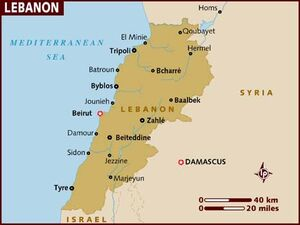 Lebanon map 001
