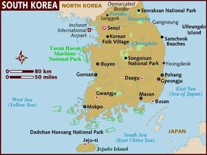South Korea map 001