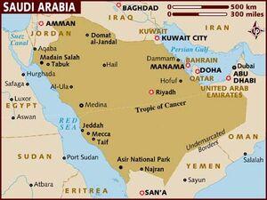 Saudi Arabia map 001