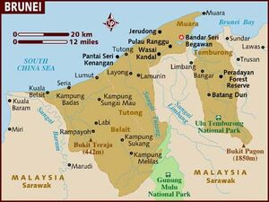 Brunei map 001