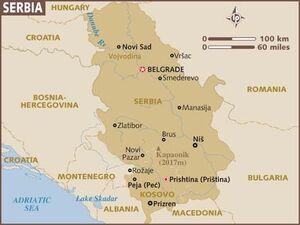 Serbia map 001