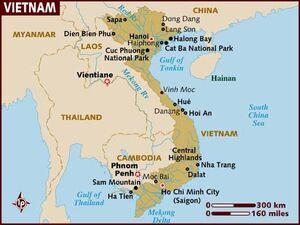 Vietnam map 001
