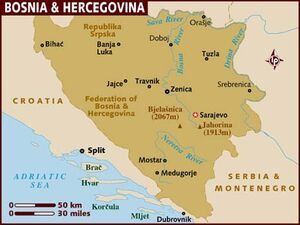 Bosnia and Hercegovina map 001