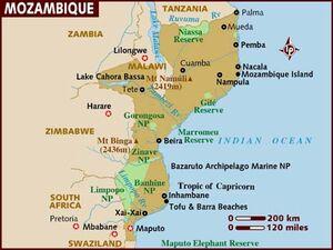 Mozambique map 001