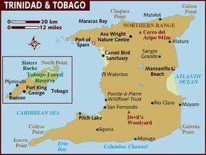 Trinidad and Tobago map 001