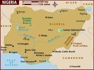 Nigeria map 001
