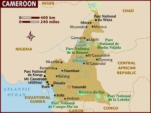Cameroon map 001