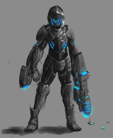 Alien powered armor by rebirthofdougler111-d5isaqg