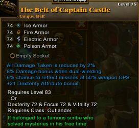 The belt of captain castle