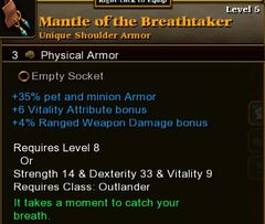 Mantle of the Breathtaker