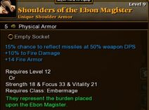 Shoulders of the Ebon Magister