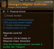 Thargos Mighty Mailcoat