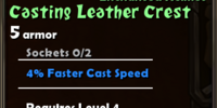 Casting Leather Crest