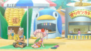 Setsuno and Jirou at Gourmet Beach