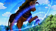 Devil Plant Horse hit by Kugi Punch