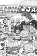 Toriko eating burgers