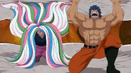 Toriko and Sunny stopping Regal Mammoths Teeths