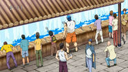Toriko and Komatsu drinking from Holy Water