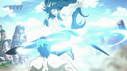 Starjun ignites his foot to kick