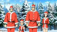 Toriko, Rin, Coco and Komatsu dressed as santas