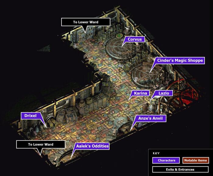 Lower ward market map