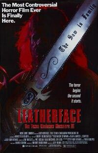 Leatherface The Texas Chainsaw Massacre III poster