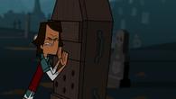 Noah pushing Owen's coffin
