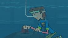 Harold underwater
