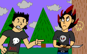 Kuro angry at Flare