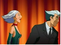 Helga and Terrence in Black suit