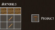 Total Miner wood pickaxe