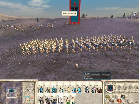 34 pontus infantry pikemen phalanx screen