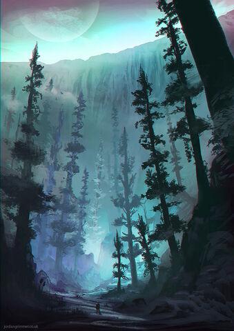 File:Base of the great glacier by jordangrimmer-d6et0xj.jpg