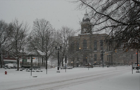 WC town square snow (Lisbon Ohio)