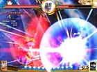 Tenshi smites her opponent with a devastating weather attack channeled through the Sword of Hisou