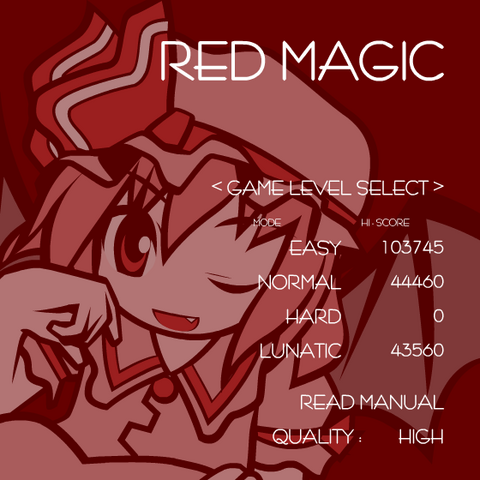 File:Touhou Red Magic Menu.png
