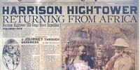 HARRISON HIGHTOWER RETURNING FROM AFRICA