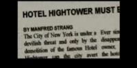 HOTEL HIGHTOWER MUST BE DESTROYED