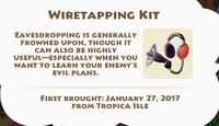 Wiretapping Kit Artifact