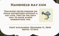 Handheld Ray Gun Artifact