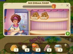 Ice cream shop inside