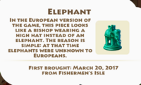 Elephant Piece Artifact