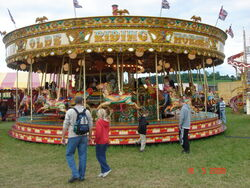 Fairground horses ride-Belvoir-DSC01212