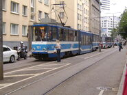Low-middle tram in Tallinn