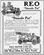 REO Motor Ad 1906