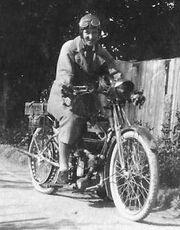 Doris Turnbull on her 2.75hp Douglas TT 1923