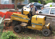 Stump grinder in england arp