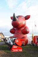 Red Rhino mascot at Lamma 2012 - IMG 3544
